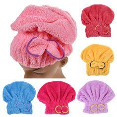 6 Colores Disponibles Superfino Textiles Para El Hogar de Microfibra de Pelo Turbante Sólido Rápidamente Sombrero Cabello Seco Toalla de Baño Envuelto Accesorio