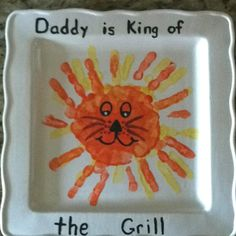 Gavin's fathers day present made with his handprints.