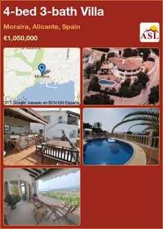 4-bed 3-bath Villa in Moraira, Alicante, Spain ►€1,050,000 #PropertyForSaleInSpain