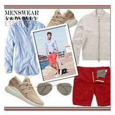 """""""Men's Summer Essentials"""" by tinayar ❤ liked on Polyvore featuring American Eagle Outfitters, Berluti, adidas, SELECTED, men's fashion, menswear and summermenswearessentials"""