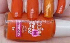 Cone Laranja - Colorama Forma em Cor + Cloud9 - Sinful Colors + Cobertura Encantada - Risqué #nailpolish #esmaltesempre