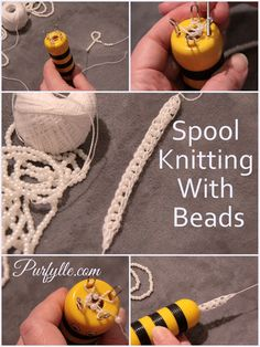 Purfylle: How To Add Beads To Your Spool Knitting . - knitting jewelry , Purfylle: How To Add Beads To Your Spool Knitting . Purfylle: How To Add Beads To Your Spool Knitting … Nähen LARP. Spool Knitting, Loom Knitting Patterns, Knitting Blogs, Knitting For Beginners, Knitting Stitches, Knitting Projects, Knitting Tutorials, Beading Tutorials, Free Knitting