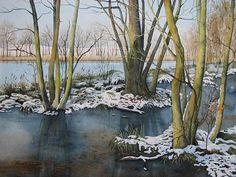 Kerstin Birk Kunst Landschaft: Winter Zeiten: Winter Neuzeit Realismus