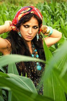 Stunning, passionate, fierce, feisty gypsy girl.