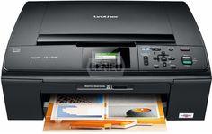 Brother-DCPJ315W Urządzenie wielofunkcyjne oferuje funkcje drukarki, kopiarki i skanera oraz wyposażone w czytnik kart pamięci oraz umożliwia pracę w sieci bezprzewodowej.