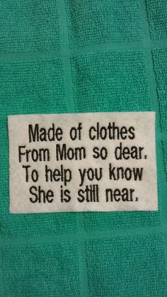 Memory Pillow Patches Mom by FriendshipQuilting on Etsy