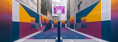 Nothin' But Net: 12 Slam Dunk Artistic Basketball Court Designs | Urbanist