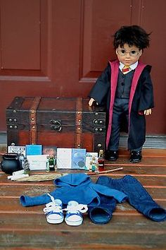 AMERICAN-GIRL-DOLL-CUSTOM-HARRY-POTTER-HARRY-POTTER-TRUNK-BOOKS-POTIONS