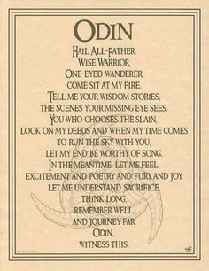 Odin sun god, prayer,