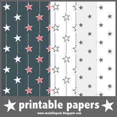 Free digital stars scrapbooking and wrap papers – ausdruckbares Geschenkpapier - freebie | MeinLilaPark – digital freebies