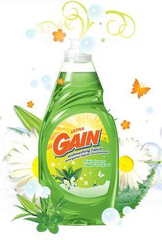 Gain Original Scent Dishwashing Liquid