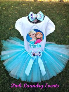 Frozen Tutu Outfit includes Tutu Personalized by PinkLaundryEvts, $49.99