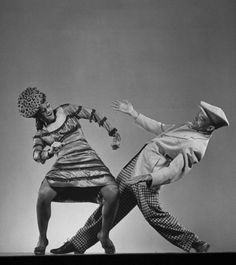"""Doing The Bump, 1943. Katherine Dunham dancing with Ohardieno in the show """"Shore Exursion"""", NY. 1943. S)"""