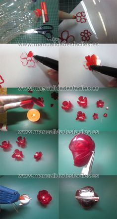 DIY bottle brooch