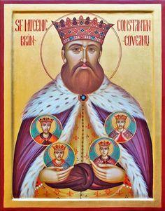 The Holy Brancoveanu Martyrs Of Romania Russian Orthodox icon Russian Orthodox, Art Icon, Orthodox Icons, Roman Catholic, Romania, Christianity, Saints, Statue, Artwork