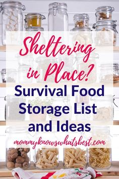Not sure what pantry essentials to store in case of emergency? Get this survival food storage list to keep your pantry stocked and ready for any emergency. Emergency Preparedness Food Storage, Survival Prepping, Survival Skills, Survival Gear, Survival Quotes, Survival Shelter, Emergency Preparation Food Storage, Survival Food List, Prepper Food