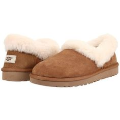 78b3d6291b0 UGG Nita (Chestnut) Womens Slippers ( 110) ❤ liked on Polyvore featuring  shoes
