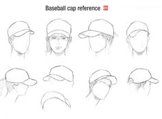 Baseball cap and head guide by randychen.deviantart.com on @deviantART