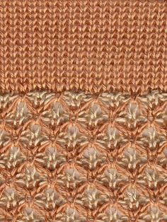 Knitting in the fastlane: Machine knit swatch