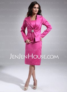 Mother of the Bride Dresses - $127.49 - Sheath Scoop Neck Knee-Length Satin Mother of the Bride Dresses (008006136) http://jenjenhouse.com/Sheath-Scoop-Neck-Knee-Length-Satin-Mother-Of-The-Bride-Dresses-008006136-g6136