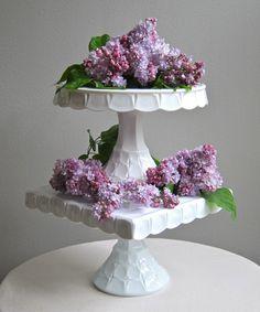 Jeni Sandberg - Barking Sands Vintage: Vintage Wedding Cake Stands - Victorian Glass, Milk Glass and More