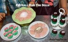 Find out how to make football themed food for your American Girl dolls from polymer clay. We made American Girl doll sized football cheese balls, football stadium cookies, and football cupcakes. Polymer Clay Cupcake, Cupcake Mold, Football Cupcakes, Football Food, Candy Recipes, Real Food Recipes, American Girl Food, Doll Food, Cheese Ball