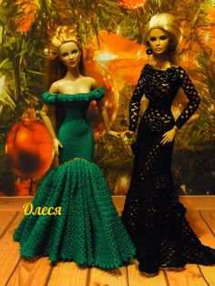 Crochet Barbie Patterns, Crochet Doll Dress, Crochet Barbie Clothes, Barbie Wedding Dress, Barbie Gowns, Barbie Dress, Knitting Dolls Clothes, Crochet Fashion, Beautiful Crochet