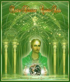 Cantinho de Imagens da Guerreira: Mestre Hilarion 7 Chakras, Ascended Masters, Gifs, Portal, Saint Germain, Tantra, Reiki, Movie Posters, Numbers