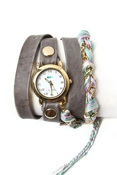 La Mer - Pastel friendship bracelet watch