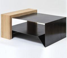 Table basse bois et m tal - Construire table basse ...