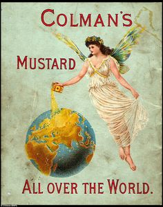 International: An 1895 advert showing the worldwide reach of the Colman's Mustard brand.