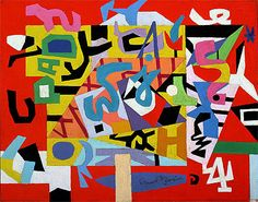 New York Mural Stuart Davis | Pad No. 4, 1947 | Stuart Davis | Brooklyn Museum of Art New York USA
