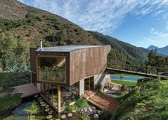 Completed in 2014 in Olmué, Chile. Images by Felipe Díaz Contardo. The building is located in the eastern hillside of El Maqui Brook, a rural place of The Coastal Mountain Range of Chile. This geographical zone is...