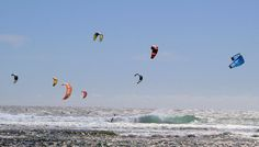 Kitesurfing Square Meter, International Airport, Montenegro, Kitesurfing, City, Beach, Animals, Animales, Animaux