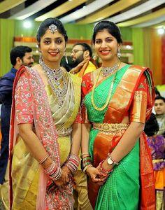 Saree Blouse Patterns, Sari Blouse Designs, Blouse Styles, Bridal Silk Saree, Silk Sarees, Samantha In Saree, Half Saree Designs, Blouse Models, Exotic Women
