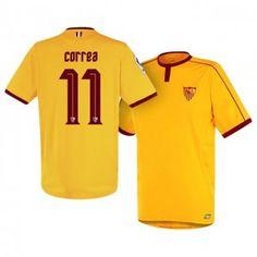 Sevilla FC Third 16-17 Season Yellow #11 Correa Soccer Jersey [I232]