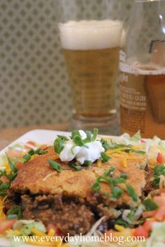 Beef-Tamale Casserole by The Everyday Home