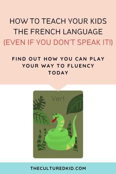 Discover how in just 5 MINUTES A DAY, you can teach your kids a foreign language - even if they're still learning to speak their first words. How To Speak French, Learn French, Teachers College, Language Lessons, Don't Speak, Second Language, Teaching French, New Words, Languages