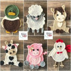 Crochet Animal Appliques Patterns