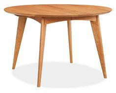 Modern round dining table with leaves to extend for large parties. Ventura Extension Tables - Tables - Dining - Room & Board