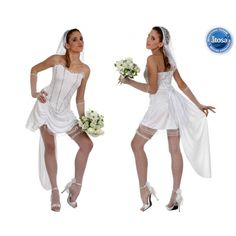 Deguisement-Robe de Marié Sexy Halloween, Marie, White Dress, Ballet Skirt, Costumes, Wedding Dresses, Skirts, Fashion, Costume