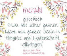 Wann hast du das letzte Mal etwas mit meraki gemacht? Mehr Inspirationen auf http://veronikakrytzner.de