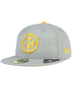 New Era Pittsburgh Steelers Heather League Basic 59FIFTY Cap