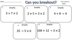 Adding Positive & Negative Integers – Two Breakout Activities! Math Classroom, Google Classroom, Negative Integers, Education Middle School, Math Education, Absolute Value, Math Graphic Organizers, Order Of Operations, 7th Grade Math