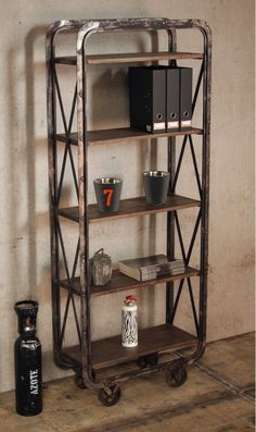 Industrial Furniture: Shelves of industrial wagon inspiration