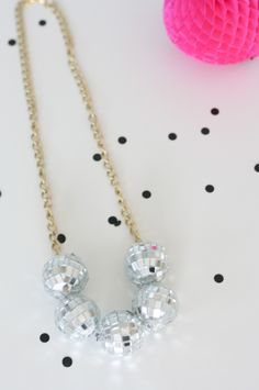 DIY Disco Ball Necklace