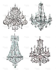 Chandelier drawing stock illustration 19817429 - iStock