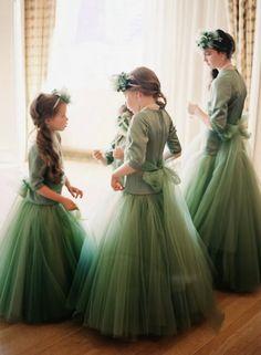 FLOWER GIRL ' S in matching tulle skirt's  .. Love.