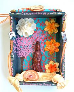Kuan Yin Compassion Healing Art Shrine Assemblage  by Jeanne Fry