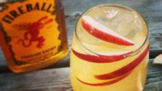 Enjoy the sweet and fiery cinnamon flavors of Fireball whiskey and apple cider. The perfect cocktail served hot or cold.